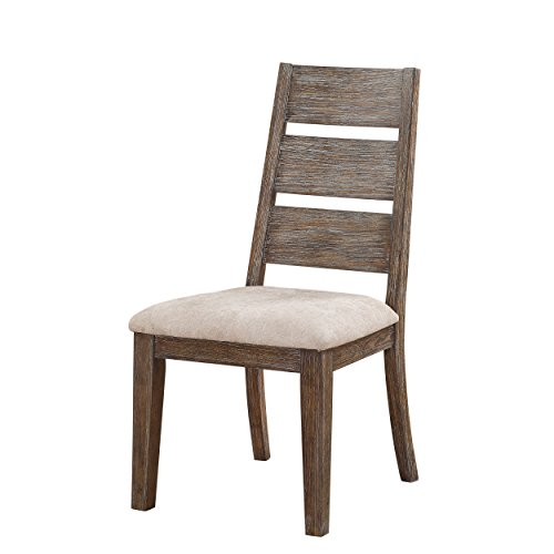 Emerald Home Viewpoint Driftwood Gray Dining Chair with Upholstered Seat, Set of Two (Upholstered Dining With Chairs Seats)