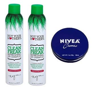 Not Your Mother's 2 Pack Clean Freak Dry Shampoo Unscented 7 Oz. + Travel Size Body Cream 1 Oz. by Not Your Mother's