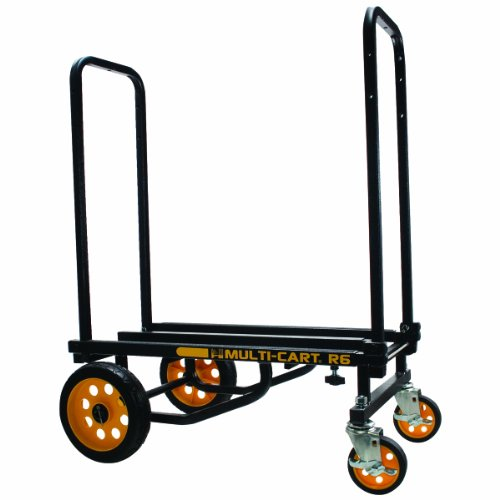 Breakroom Carts - ADVANTUS Multi-Cart 8-in-1 Cart, 500 Pound Capacity, Black/Yellow (86201)