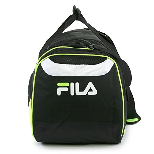 "41IisAdi2QL - Fila Acer 25"" Sport Duffel Bag, Black/Neon Green"
