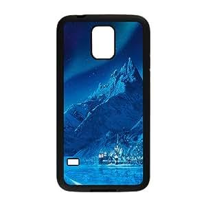 Samsung Galaxy S5 Cell Phone Case Black ac70 elsa frozen castle queen disney illust snow art LSO7971816