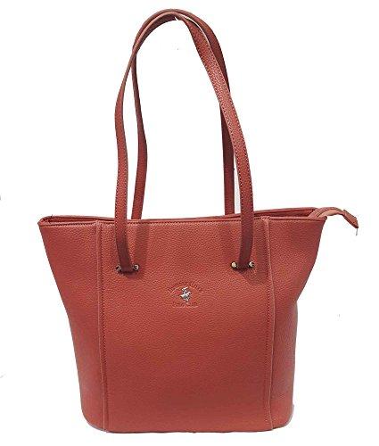 Shopping Beverly Hills Polo Club Borsa Donna cipria due manici BH1063