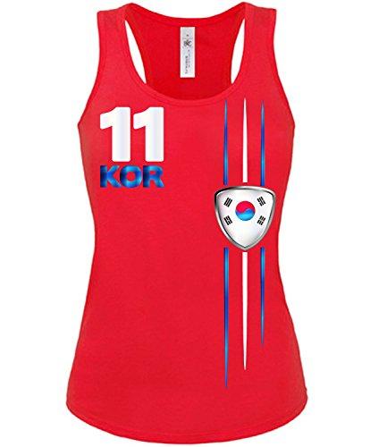 Copa del Mundo de fútbol - Campeonato de Europa de Fútbol - KOREA mujer camiseta Tamaño S to XXL varios colores S-XL Rojo