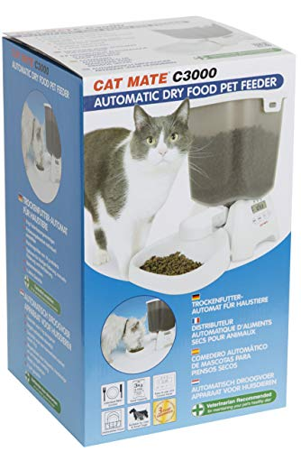 Pet Mate Cat Mate C3000 Automatic Dry Food Dispenser (One size) (White)