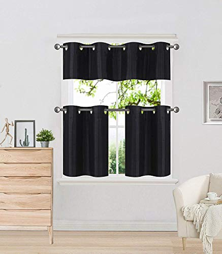 Black Kitchen Curtain - 8