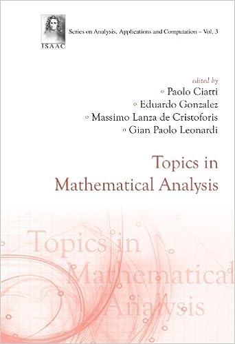 Book Topics In Mathematical Analysis
