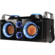 QFX PBX-505200BT BLUE Rechargeable Bluetooth(R) Party PA Boombox (Blue) Consumer Electronics