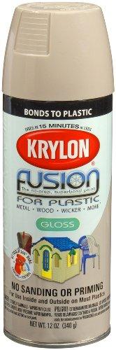 - Krylon K02323007 Fusion For Plastic Spray Paint, River Rock, 12 Ounce