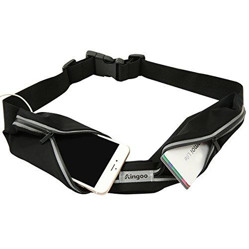 Aingoo Running Belt for Phones Waterproof Waist Pack Fitness Belt for Outdoor Sports