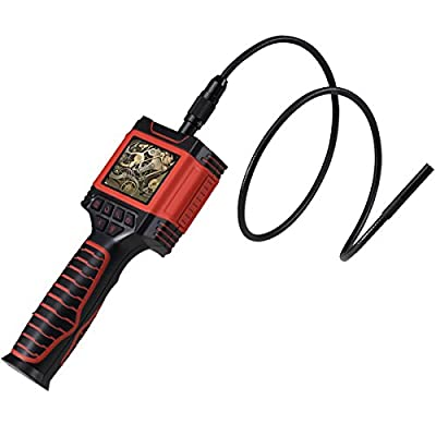 """Inspection Camera, CiBest Portable Videoscope Borescope Handheld Automotive Extension 2.4"""" LCD Monitor Digital Video Endoscope Camera 6 LEDs 8.5mm Diameter Zoom in Waterproof Tube 3.3ft/1M Cable"""
