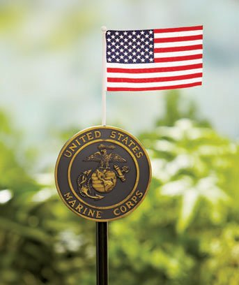 Marines Military Marker Stake with Flag