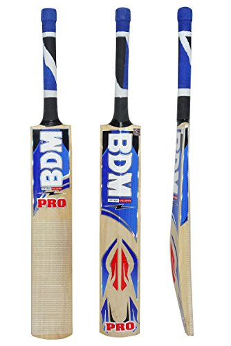 BDM Pro Multi - Piece Cane Handle Kashmir Willow Wood Cricket Bat Carry Case Adult Size - Choose Weight