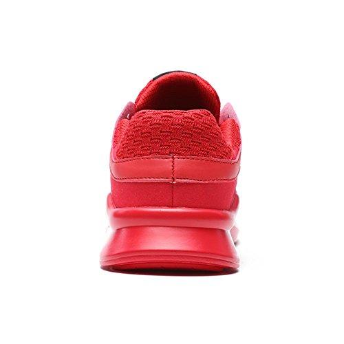 da Scarpe Ginnastica Leggere TUOKING da Sneakers Casual Traspirante Scarpe Passeggio da Sportive Rosso Moda Uomo Stringate Scarpe Resistenti SBSwxZzP