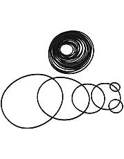 Bstinay 20Pcs 25-170mm Mixed Square Cassette Tape Machine Recorder Rubber Belt