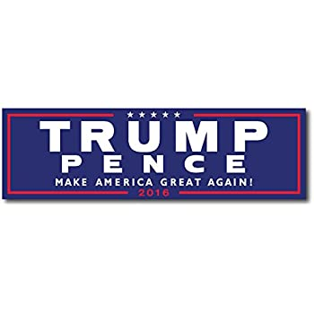 Trump pence official blue bumper sticker 1