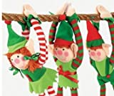 Fun Express Deluxe Plush Hanging Christmas Elves Party Favors - 12 Pieces
