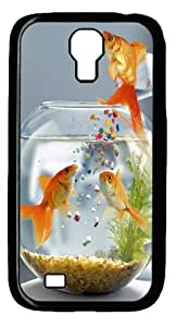 Goldfish Surprise PC Case Cover For Samsung Galaxy S4 And Samsung Galaxy I9500 Black