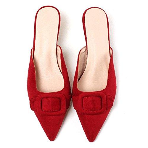 Women Kitten Open Coolcept Red Back Sandals Heel q6xwd0