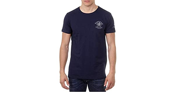 366b9c13 Ufford & Suffolk Polo Club Mens T-Shirt Short Sleeves Round Neck US028 Navy  Blue at Amazon Men's Clothing store: