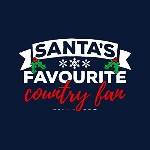 Sweatshirt Santas Christmas Navy Hooded Women's Blue Fan Favourite Country gcpycUr