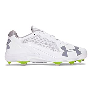 Under Armour Men's Deception Low DiamondTips, White (100)/White, 9.5