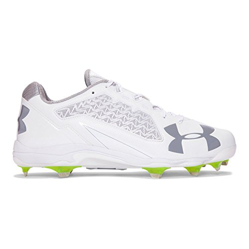 Under Armour Men's Deception Low DiamondTips, White (100)/White, 12