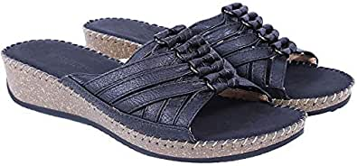 Shoes Story Black Heels Slipper For Women