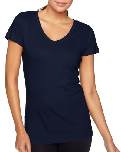 Next Level Women's Sporty Self Fabric Collar Jersey T-Shirt_Midnight Navy_Large