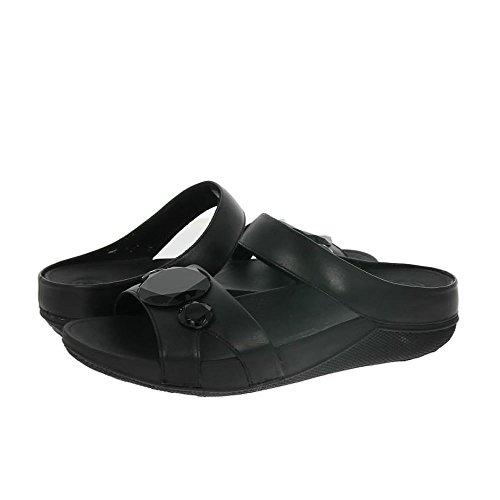 Fitflop Luna Pop Slide - Sandalias con tacón Mujer Black (All Black)