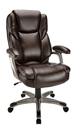 Realspace Cressfield Bonded Leather High-Back Chair, - Leather Back Medium