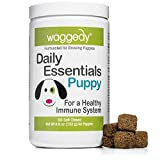 Waggedy Puppy Vitamin Chews -60 Chewy Multivitamins, Full Spectrum Functional Treats, Large or Small Breed Puppy Supplement: Joint, Digestion, Immune System, Eyes & Coat 4.6 oz. USA, Time Released