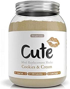 Cute Nutrition Batido Sabor Galletas y Crema para el Control de la ...