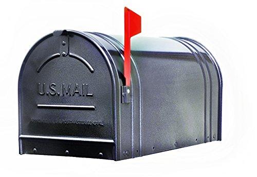(Fulton 2-1 Extra Large Post Mount Steel Mailbox, Gunmetal Silver - 11