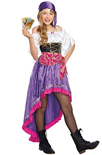 SugarSugar Girls/Tween Gypsy Magic Costume, One Color, Medium - Gypsy Costumes For Tweens