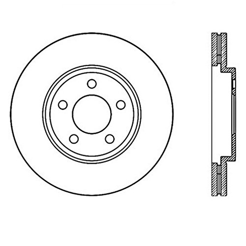 Matt Chrome Disc (Stop Tech 127.61072R Sportstop Slotted and Drilled Brake Rotor)