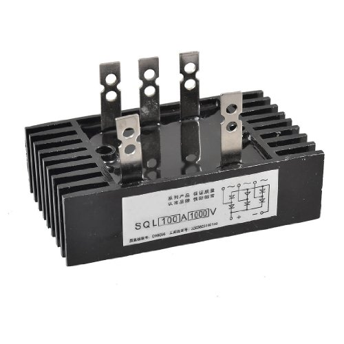 SODIAL(R) SQL 100A Amp 1000V 3 Phase Diode Metal Case Bridge Rectifier