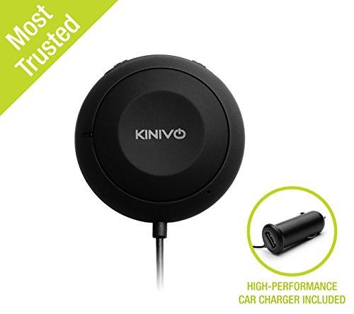 Kinivo BTC450 Bluetooth Freisprecheinrichtung: Freisprechanlage und kabelloses Streaming über die KFZ Lautsprecher mit aptX