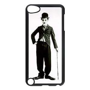 Charlie Chaplin 3 H6T54S3VW funda iPod Touch 5 caso funda 271E63 negro