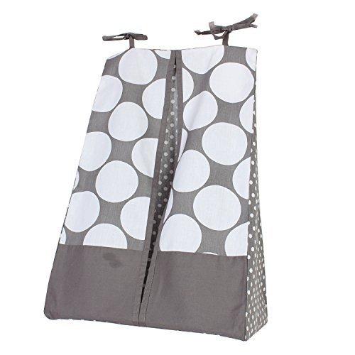 Bacati - Mix N Match Dots Diaper Stacker (Grey)
