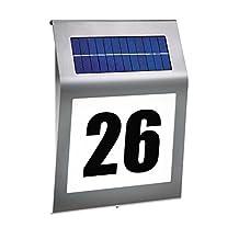 niceEshop(TM) Solar Lighted Address Sign House Number, 3 LED Outdoor Lighting Doorplate LED Solar Lamp (18X18X5cm)