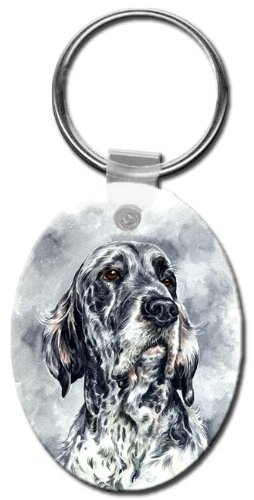 Canine Designs English Setter Oval Key Chain