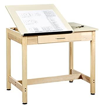 Diversified Woodcrafts DT 1SA30 UV Finish Solid Maple Wood Art/Drafting  Table With 2