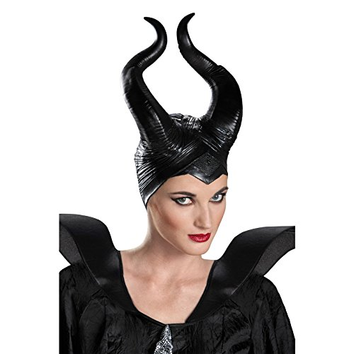 Disguise Womens Disney Maleficent Movie Maleficent Deluxe Adult Horns Costume Accessory Black One Size