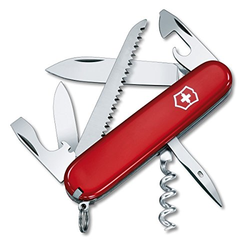 Knife Swiss Army Camper (Victorinox Swiss Army Camper Pocket Knife, Red)