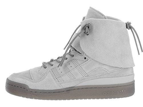 Adidas Mens Forum Hi Moc Casual Shoe Stone / Stone / Clay