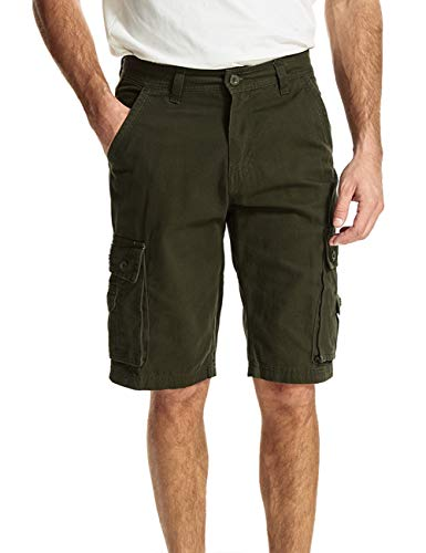 f7f9e4db14 APRAW Men's Cargo Shorts with Pockets Casual Khaki Relaxed Fit Cotton Big  Tall