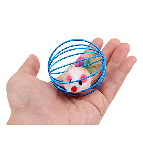 Amazon.com : Best Quality pawstrip 1pc False Mouse cat Toy Interactive Mouse in Rat cage Ball Toy for Cats Gatos jouet Chat juguetes para Gatos katten : Pet ...