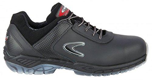 Negro Tamaño S3 Zapatos De Escalfaron Par Cofra De Src Seguridad 43 C4awnqv