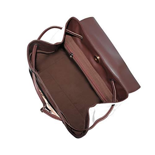 Igelkott ryggsäck handväska mode PU-läder ryggsäck ledig ryggsäck för kvinnor