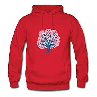 Women Tree Hugger Custom Unique Cotton Red Hoody X-large